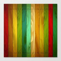 wooden Canvas Prints featuring Wooden  by Tami Cudahy