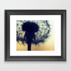dandelion green IX Framed Art Print