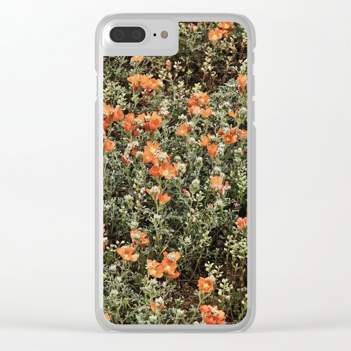 Daisy Flowers Clear iPhone Case