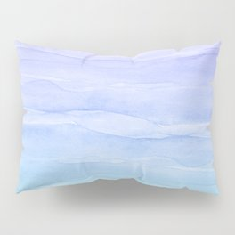 Layers Blue Ombre - Watercolor Abstract Pillow Sham