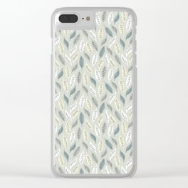 Winter Leaves 11 Clear iPhone Case