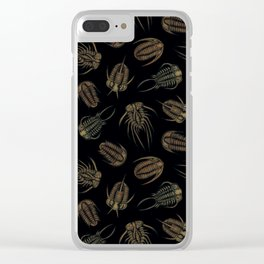 Trilobites - Marine Fossil Pattern Clear iPhone Case
