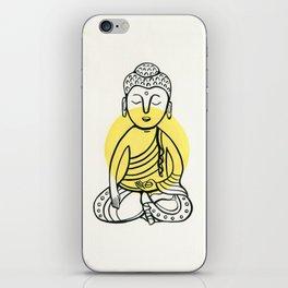 Yellow Buddha iPhone Skin
