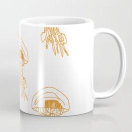 méduses ocres Coffee Mug