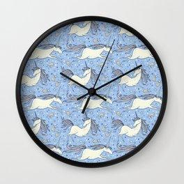 unicorn pattern Wall Clock