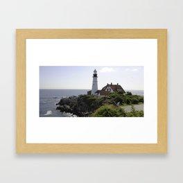 Portland Maine Lighthouse Framed Art Print