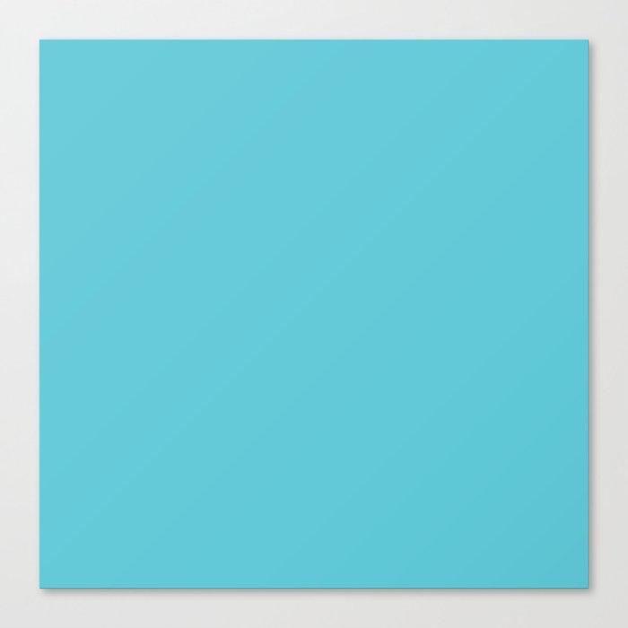 Turquoise Blue Radiance | Solid Colour Leinwanddruck