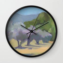 Olive grove Wall Clock