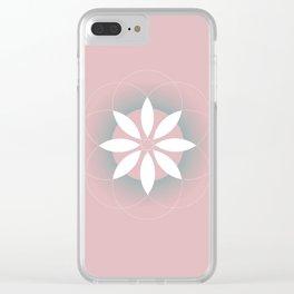 Geometric flower Clear iPhone Case