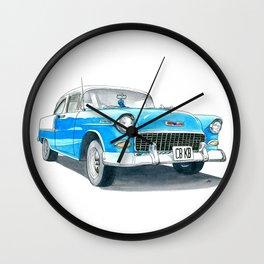 55 Chevy Bel Air #3 Wall Clock