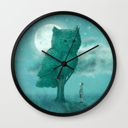 The Night Gardener Wall Clock