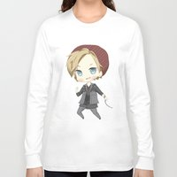 infamous Long Sleeve T-shirts featuring Pewdiepie Infamous: Second Son by PumpkinElite