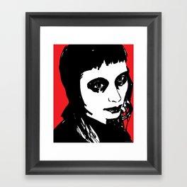 Blood Red Framed Art Print