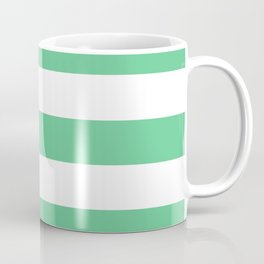 Asda Green (1999) - solid color - white stripes pattern Coffee Mug