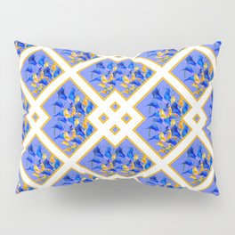 ABSTRACTED BLUE & GOLD PATTERN  CALLA LILIES  DESIGN Pillow Sham