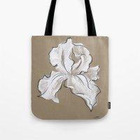 iris Tote Bags featuring Iris  by Mich Li
