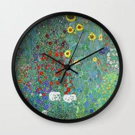 Gustav Klimt - Poppy Field 1907 (new color rendition) Wall Clock
