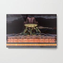 Triton Fountain Valletta 1 Metal Print