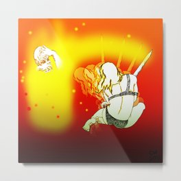Sword galactic! [Pen Drawing Figure Illustration] Metal Print