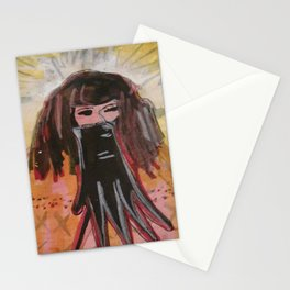Glove/Bomb/Daggers / the 3 of Swords tarot Stationery Cards