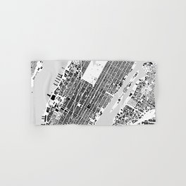 New York building city map Hand & Bath Towel