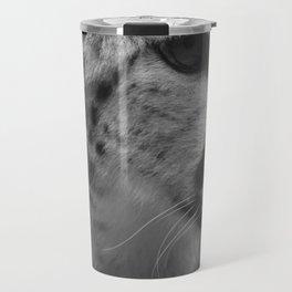 Cheetah Black & White Travel Mug