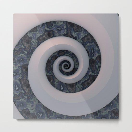 Curl & Swirl Metal Print