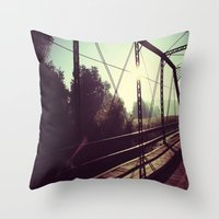 resident evil Throw Pillows featuring Resident by Peacockbutterfly  Art