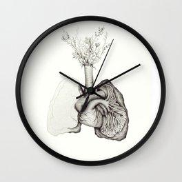 Dirt Lungs Wall Clock