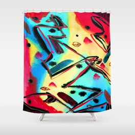 Fritz Stuckenberg Abstract Composition Shower Curtain