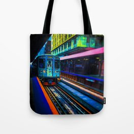 Brown Line Approaching Tote Bag