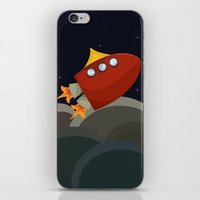 rocket iPhone & iPod Skins featuring Rocket by S. Vaeth