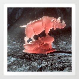 ABSOLUTE rino Art Print
