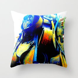 Technicolor Cellos  Throw Pillow