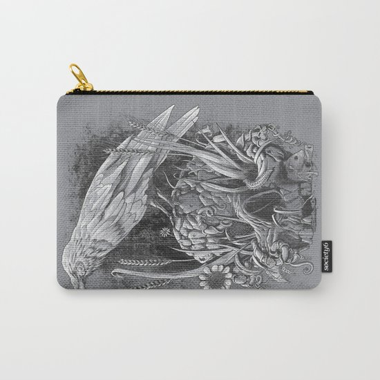 White Raven Carry-All Pouch