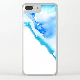 Blue Ink Bleed Clear iPhone Case