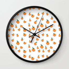 Orange Peaches Wall Clock