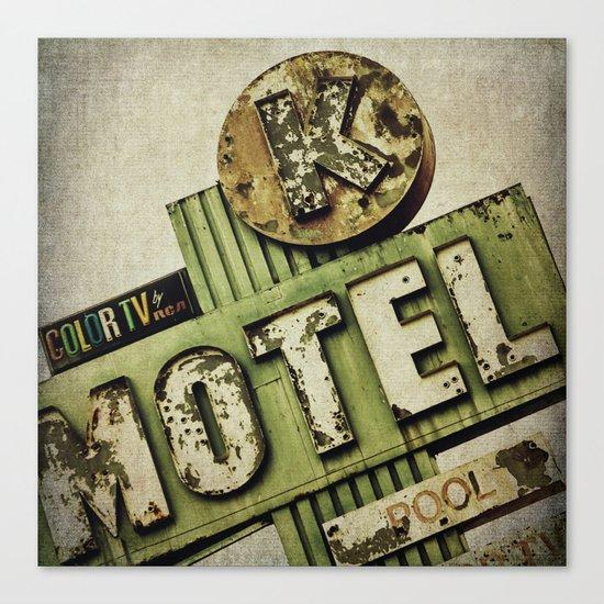 Circle K Motel Sign  Canvas Print