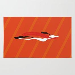 SuperDog in Orange Rug