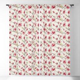 Magnolia Flower Pattern Blackout Curtain