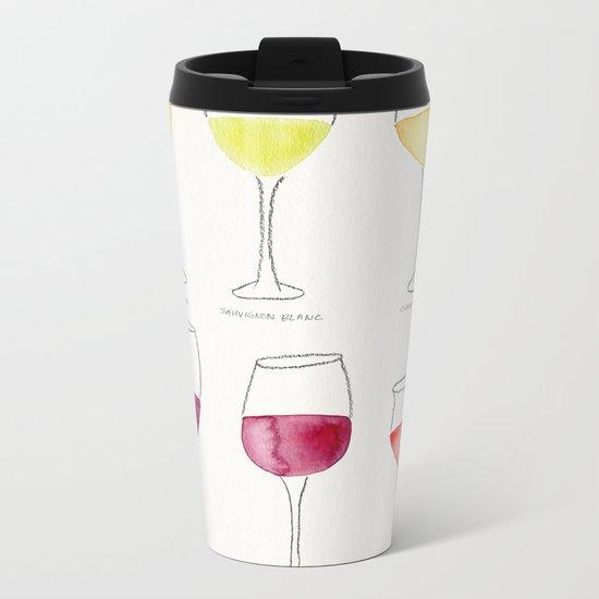 Wine Collection Metal Travel Mug