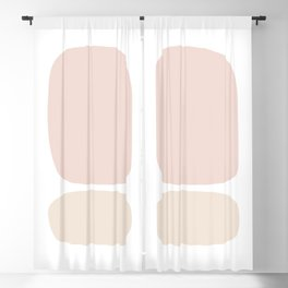 Mid Century Modern Abstract in Soft Pink & Cream Blackout Curtain