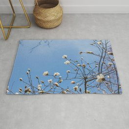 First to Bloom - Magnolia Flower Photography Rug