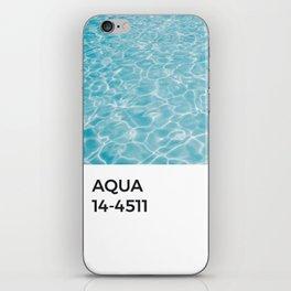 Aqua Water Azul Blue Pantone Chip iPhone Skin
