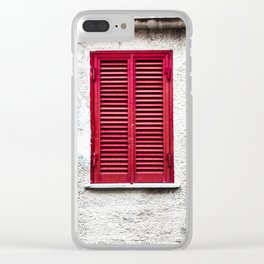 Red Background 10 Clear iPhone Case