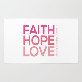 Faith Hope love,Christian,Bible Quote 1 Corinthians13:13 Rug
