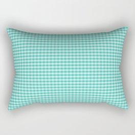 Teal Gingham Large Checks Rectangular Pillow