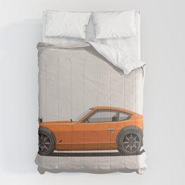Legendary Classic Orange 240z Fairlady Vintage Retro Cool German Car Wall Art and T-Shirts Comforters