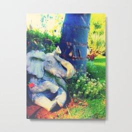 Tearful Elephant Metal Print