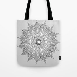 Gray Swirl Mandala light gray Tote Bag